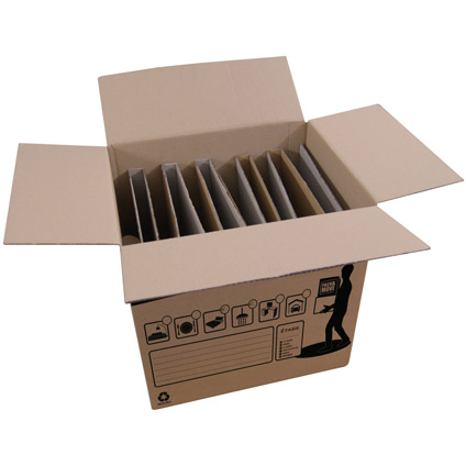 Pack & Move doos met verdelen voor borden 50L