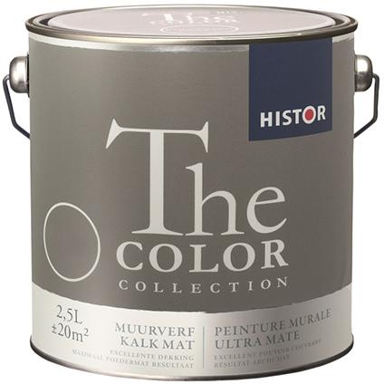 Histor muurverf The Color Collection kalkmat count black 2,5L