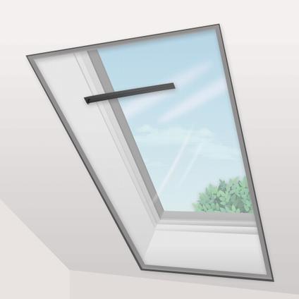 Moustiquaire pour fenêtre avec bande adhésive noir 1,8 x 1,5 m