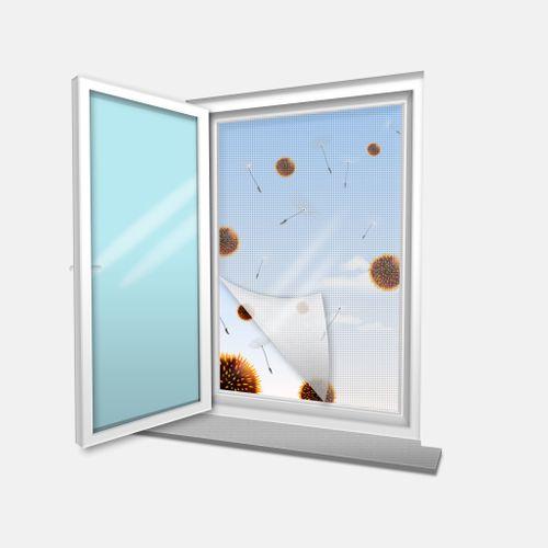 Moustiquaire pour fenêtre blanc 1,8 x 1,5 m