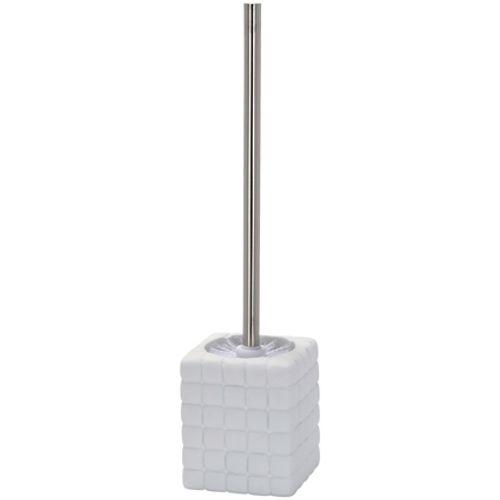 Brosse de toilette Wenko 'Cube' blanc