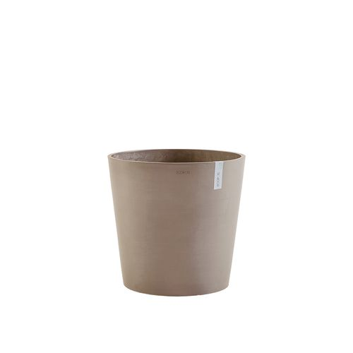 ECOPOTS Amsterdam rond taupe 50cm