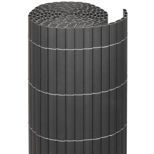 Videx balkonscherm kunststof antraciet 90x300cm