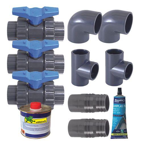 Kit pompe à chaleur Ubbink 'Deluxe bypass-set'