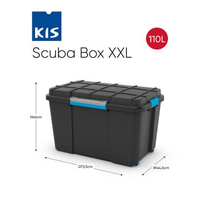 Boîte de rangement à roues Kis 'Scuba XL' noir/bleu