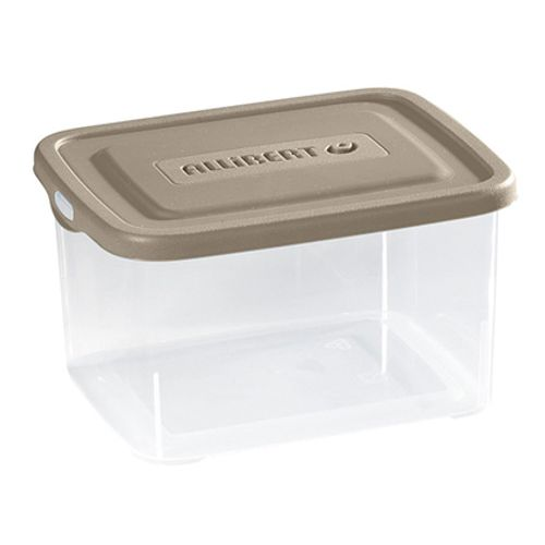 Boîte de rangement Allibert 'Handy box' transparent / taupe 3L