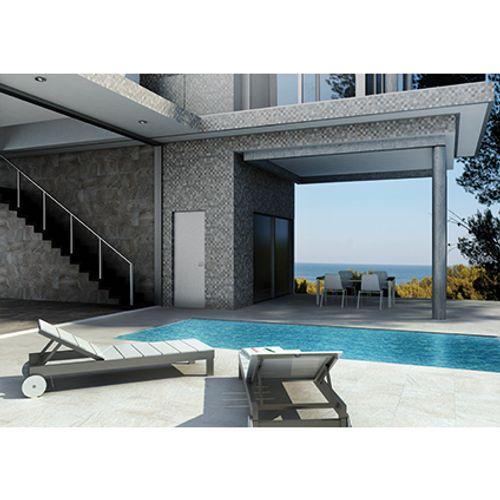 Carrelage sol Gayafores 'Quarzite' faïence gris 8 x 45 cm
