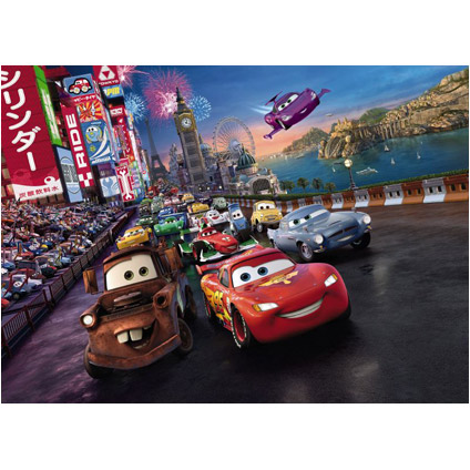 Komar sticker 'Cars race' 254 x 184 cm