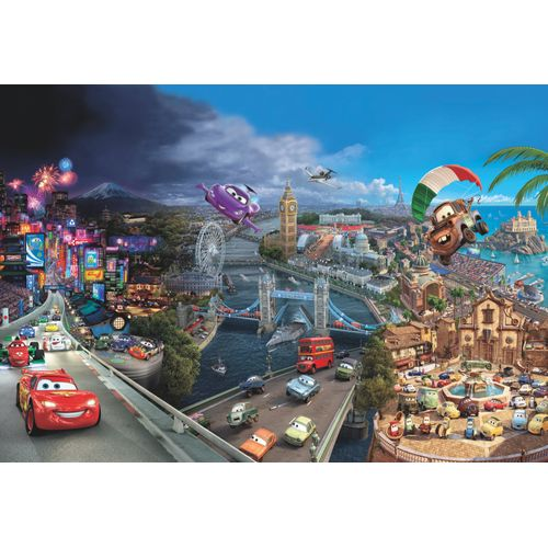 Disney fotobehang Cars world