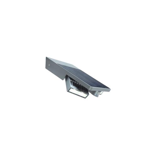 Lutec solar wandlamp met bewegingsdetector 'Tilly' zilvergrijs 4W