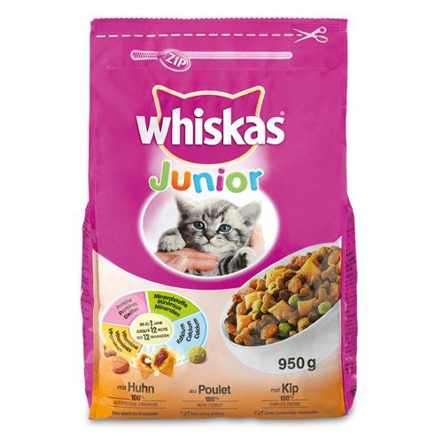Whiskas droog junior kip 950 gram