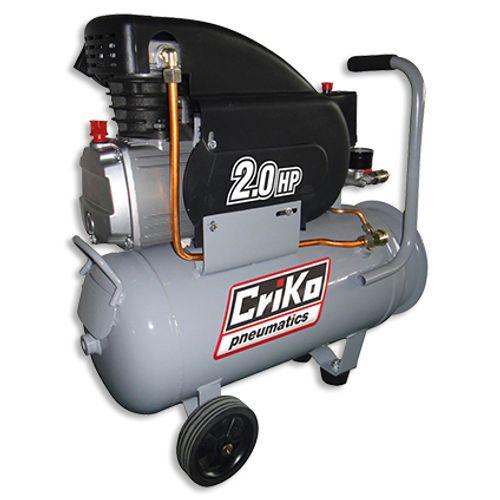 Criko compressor dubbele uitlaat 24L