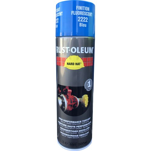 Aérosol industriel Rust-oleum Hard Hat® 2200 bleu fluorescent 500ml