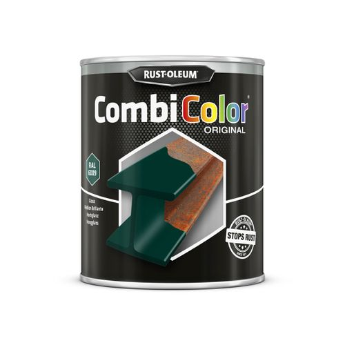 Peinture Rust-Oleum 'Combi Color' vert emeraude brillant 750ml