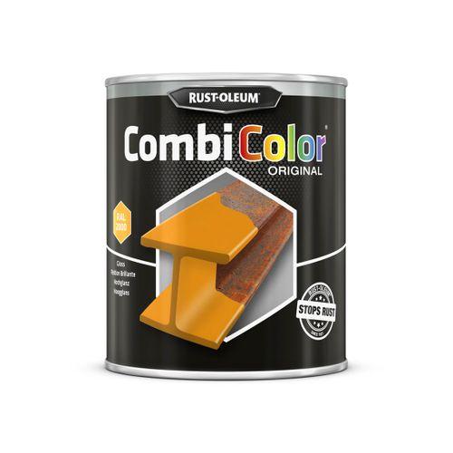 Primer antirouille et finition Rust-oleum Combicolor jaune orange 750ml