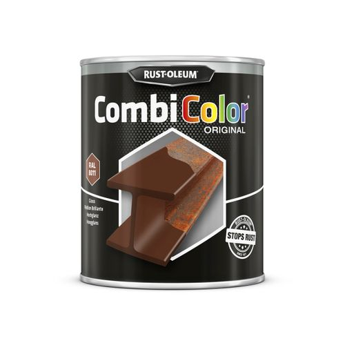 Peinture Rust-Oleum 'Combi Color' brun rouge brillant 750ml