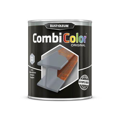 Primer antirouille et finition Rust-oleum Combicolor gris acier 750ml