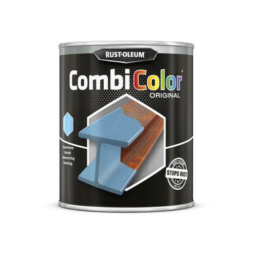 Rust-oleum Combicolor antiroest primer en finish gehamrd licht blauw 750ml