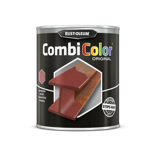 Rust-oleum Combicolor antiroest primer en finish gehamerd rood 750ml