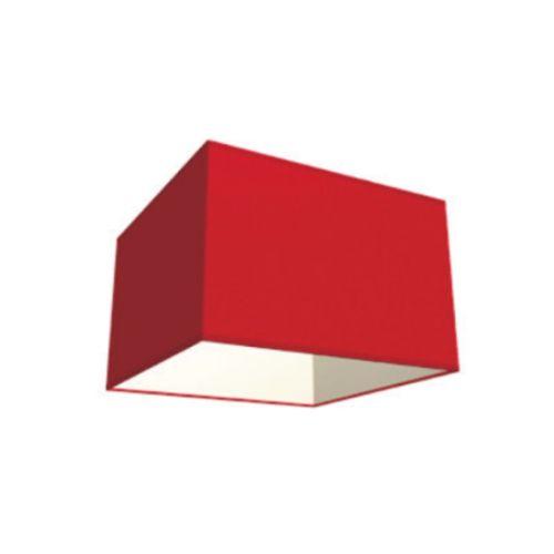 Abat-jour Home Sweet Home 'Block' rouge 20 cm