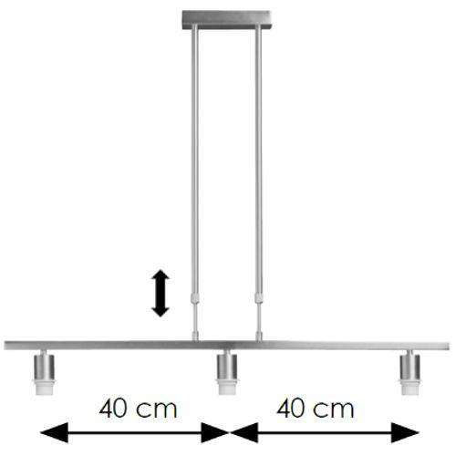 Home Sweet Home hanglamp 'Bridge' chroom 3x60W