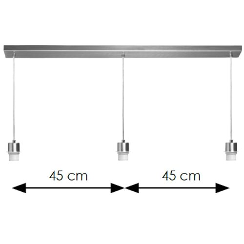 Suspension Home Sweet Home 'Beam' chrome 3x60W
