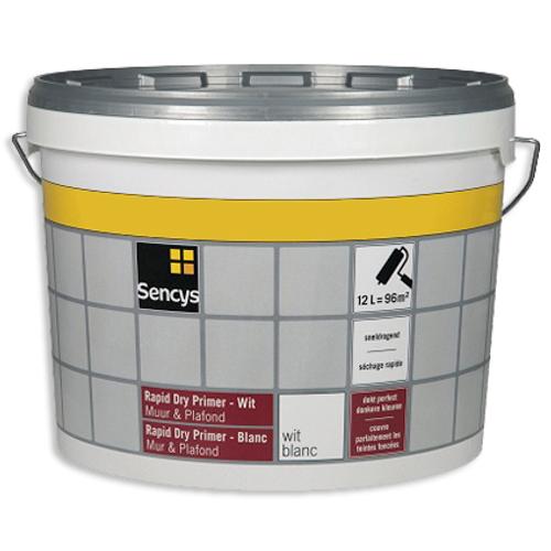 Sencys primer muur en plafond 'Rapid Dry' wit 2,5 L