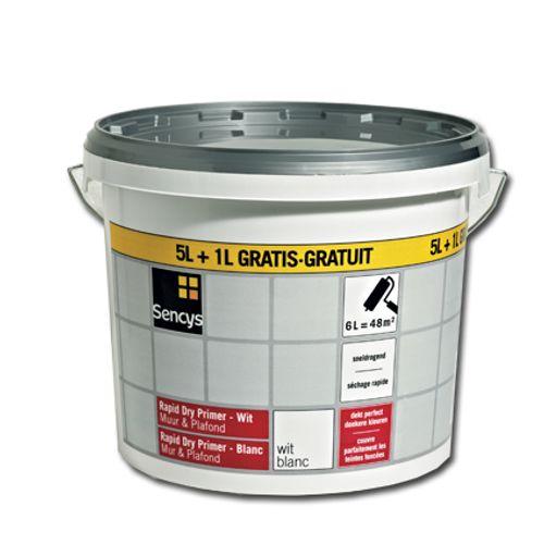 Primer mur et plafond Sencys 'Rapid Dry' blanc 6 L