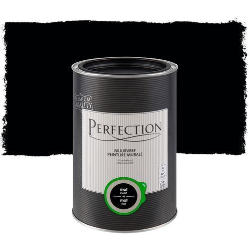 Perfection muurverf Ultradekkend mat zwart 1L