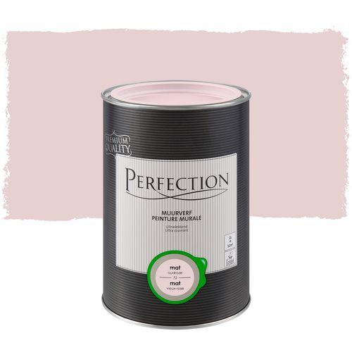 Perfection muurverf Ultradekkend mat oudroze 1L