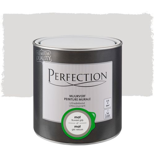 Perfection muurverf Ultradekkend mat fluweel grijs 2,5L