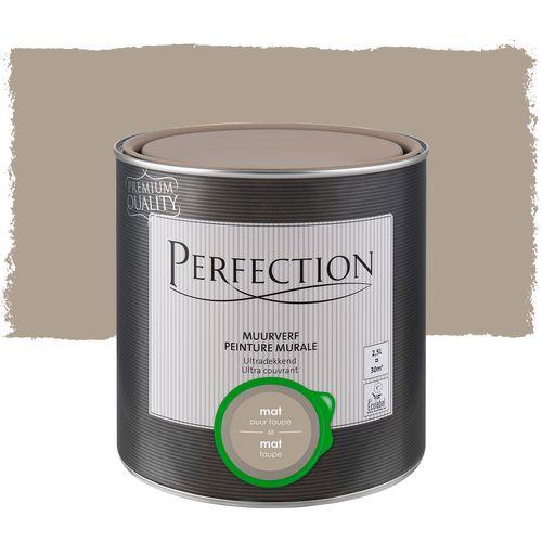Perfection muurverf Ultradekkend mat taupe 2,5L