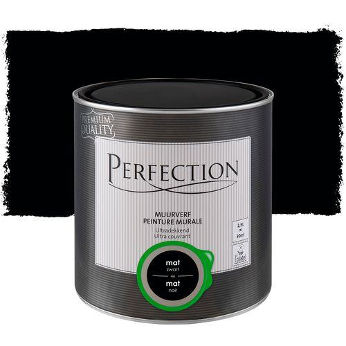 Perfection muurverf Ultradekkend mat zwart 2,5L
