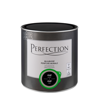 Perfection muurverf ultradekkend mat zwart 2,5L