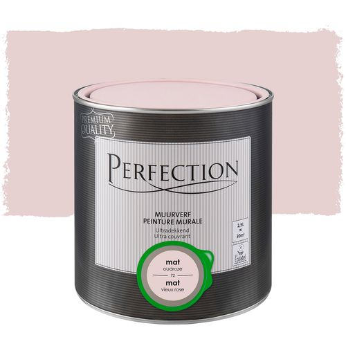 Perfection muurverf Ultradekkend mat oudroze 2,5L