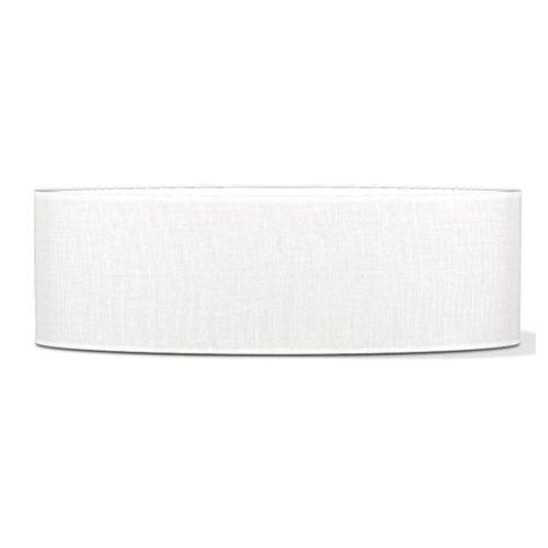 Abat-jour Home Sweet Home 'Big oval' blanc 100 cm