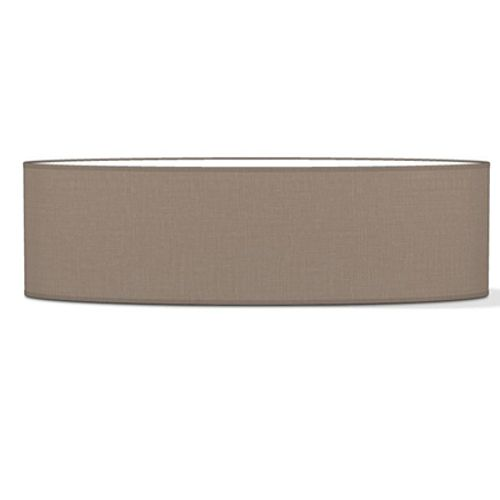Abat-jour Home Sweet Home 'Big oval' beige taupe 100 cm