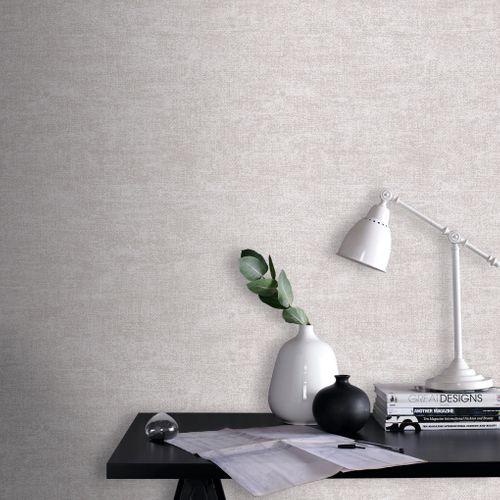 Papier peint intissé DecoMode Cottage gris clair