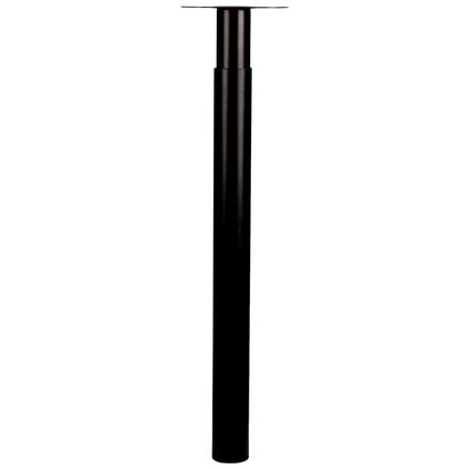 Pied de meuble Duraline 'Tess' métal rond noir 72 cm