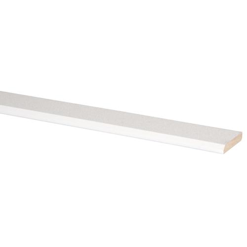 Wand/ plafond plint MDF 8X45mm fijne wit stuc 260cm
