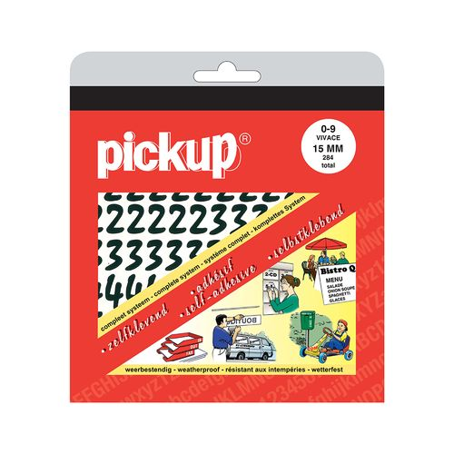 Pickup pochette kleefcijfers Vivace 15mm zwart