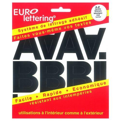 Pickup boekje zelfklevende letters Eurol 50mm zwart