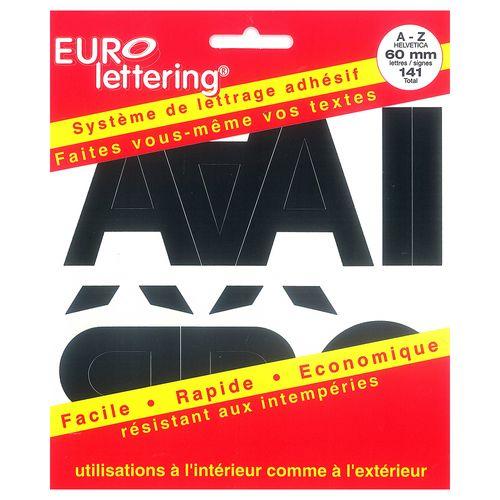 Pickup boekje zelfklevende letters Eurol 60mm zwart