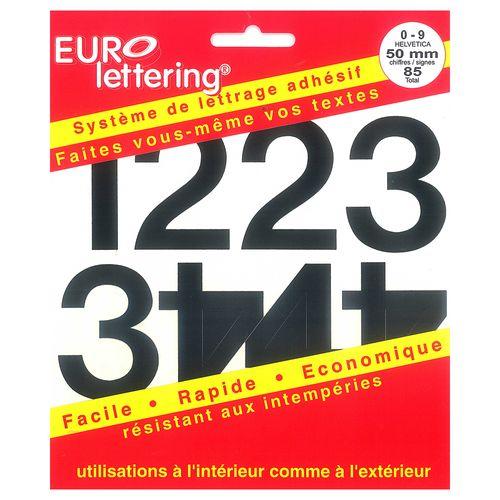 Pickup boekje zelfklevende cijfers Eurol 50mm zwart