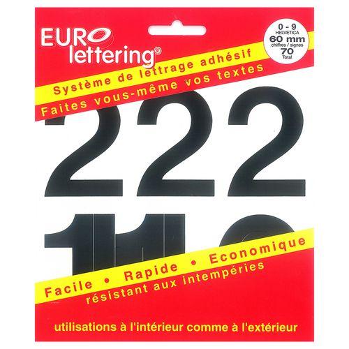 Pickup boekje zelfklevende cijfers Eurol 60mm zwart