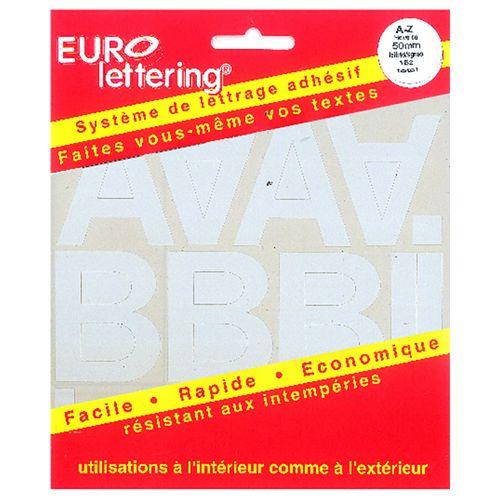 Pickup boekje zelfklevende letters Eurol 50mm wit
