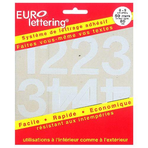 Pickup boekje zelfklevende cijfers Eurol 50mm wit