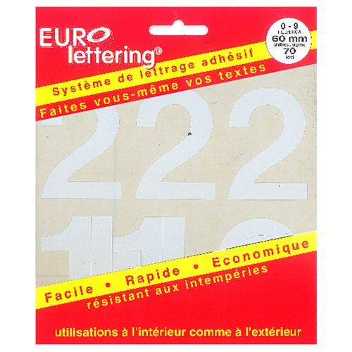 Pickup boekje zelfklevende cijfers Eurol 60mm wit