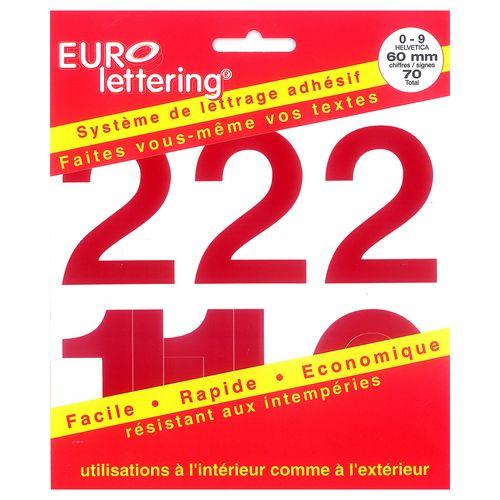 Pickup boekje zelfklevende cijfers Eurol 60mm rood