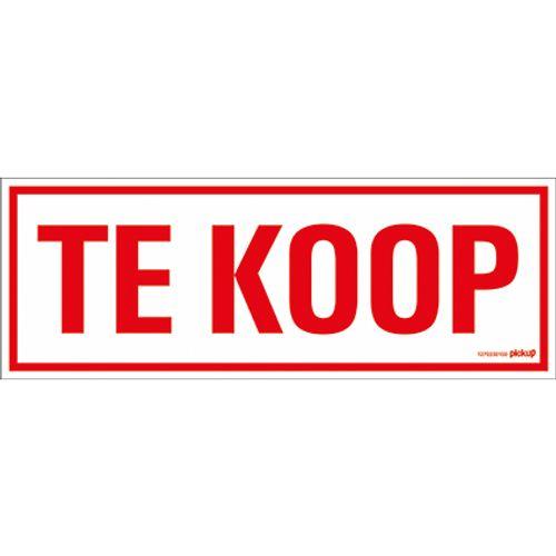 PickUp pictogram 'Te koop' 33 X 12 cm